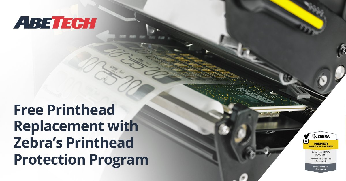 Free Printhead Replacement with Zebra's Printhead Protection Program