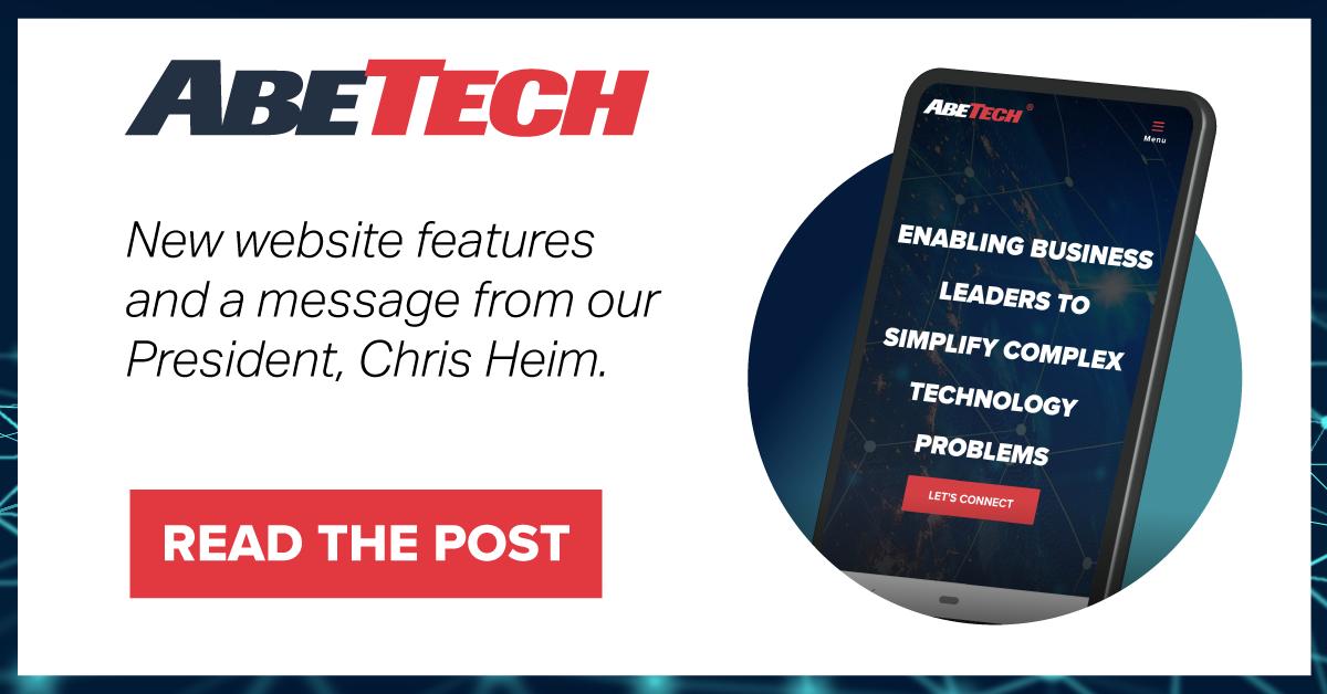 AbeTech's Website has a Fresh New Look