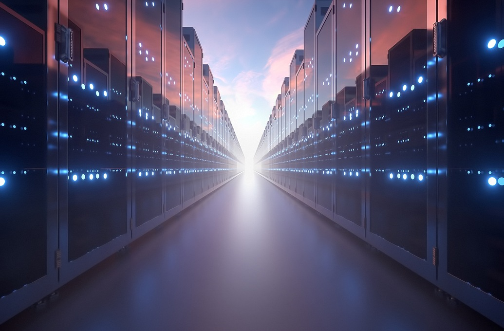 connected warehouse servers image
