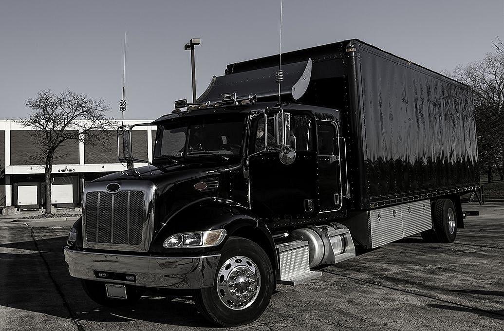 black semi truck
