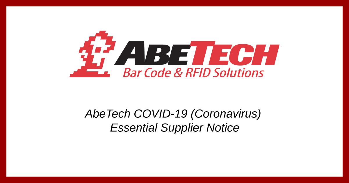 AbeTech Designated an Essential Supplier